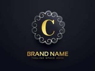 字母C标志与漩涡装饰