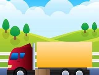 在背景例证隔绝的货物的运输卡车