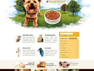 宠物商店网站设计模板PSD