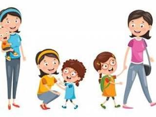 幸福的家庭的插图