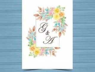 黄色花卉婚礼徽章