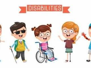 残疾的孩子的例证