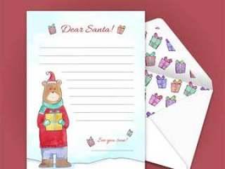 圣诞节信封和信纸