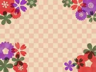 花柄の和风水彩壁纸