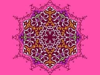 坛城装饰装饰品桃红色背景传染媒介