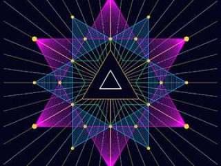 时髦三角神秘的星体三角背景