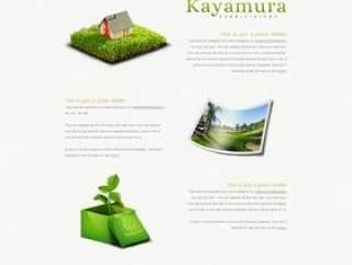 经典环保网站PSD分层素材