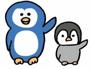 企鹅父母和孩子