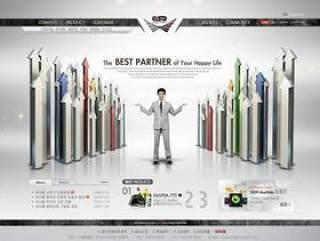 企业网站模板PSD分层(753)