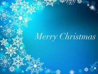 圣诞节_蓝色_背景