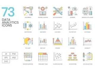 数据分析概念包括分析,机器学习,信息图表......,73数据分析图标