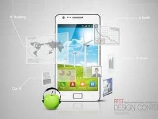 数据码科技手机功能展示PSD分层