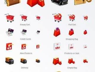 电子商务购物图标PNG格式