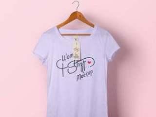 女士Psd T恤Mockup Vol1