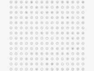 【超级圆满 300枚常用圆形图标一次收入 PSD源文件】