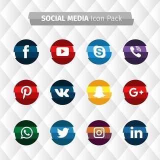 条纹的社交媒体集合