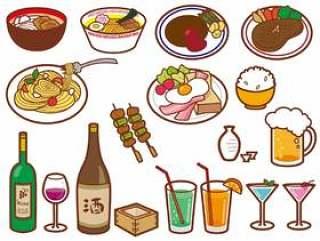 食物的插图集矢量素材