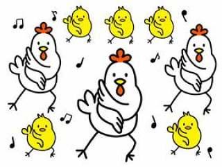 鸡和小鸡舞蹈版本3