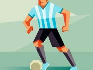 阿根廷足球运动员矢量图