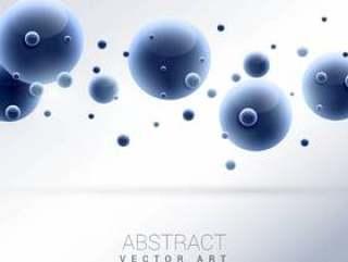 3d蓝色分子抽象背景