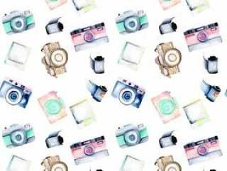 用水彩复古相机的无缝模式