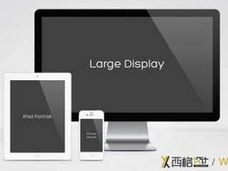 iPhone iPad Mac 黑白 RESPONSIVE SCREEN MOCKUP PACK