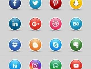 社交媒体按钮