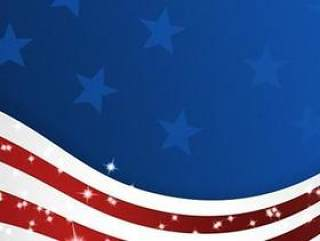美国国旗标志PSD分层