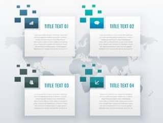 四个步骤选项信息图表模板业务演示