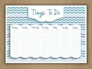 每周计划的事情