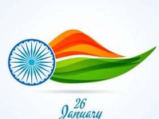印度共和国日背景矢量设计插画