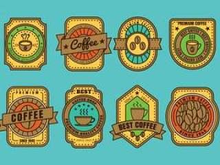 咖啡徽章矢量