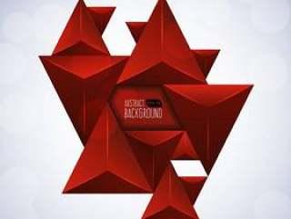 红三角抽象背景
