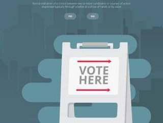 竞选标志例证,投票标志例证