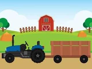 农场平风景插图
