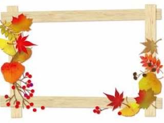 倒下的叶子框架1