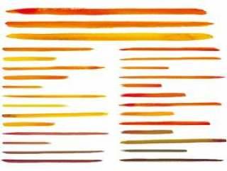水彩绘图手写的线描素材集生动