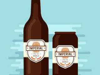 帝国的淡啤酒啤酒矢量标签