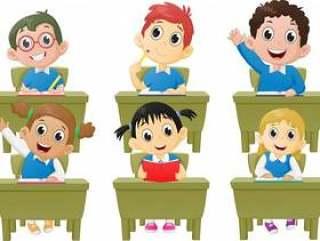课堂活动学校的孩子们在课堂上