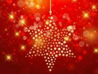 圣诞节明星背景
