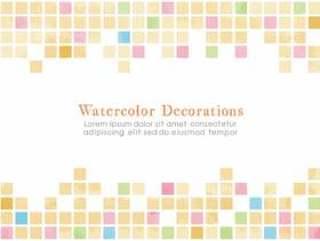 瓷砖般的水彩触摸丰富多彩的材料