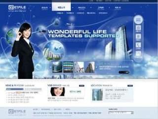 国外企业网站模板psd分层素材