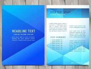 抽象的多边形小册子传单设计模板