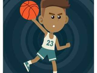 男孩打篮球