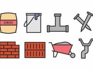 建筑材料图标集