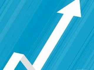 向上移动的箭头商业背景