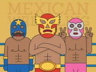 墨西哥摔跤手矢量