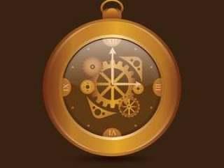 复古手表齿轮零件插图
