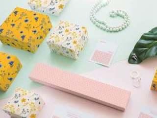 珠宝和包装样机概念