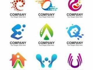 抽象业务标志集,企业标识图标